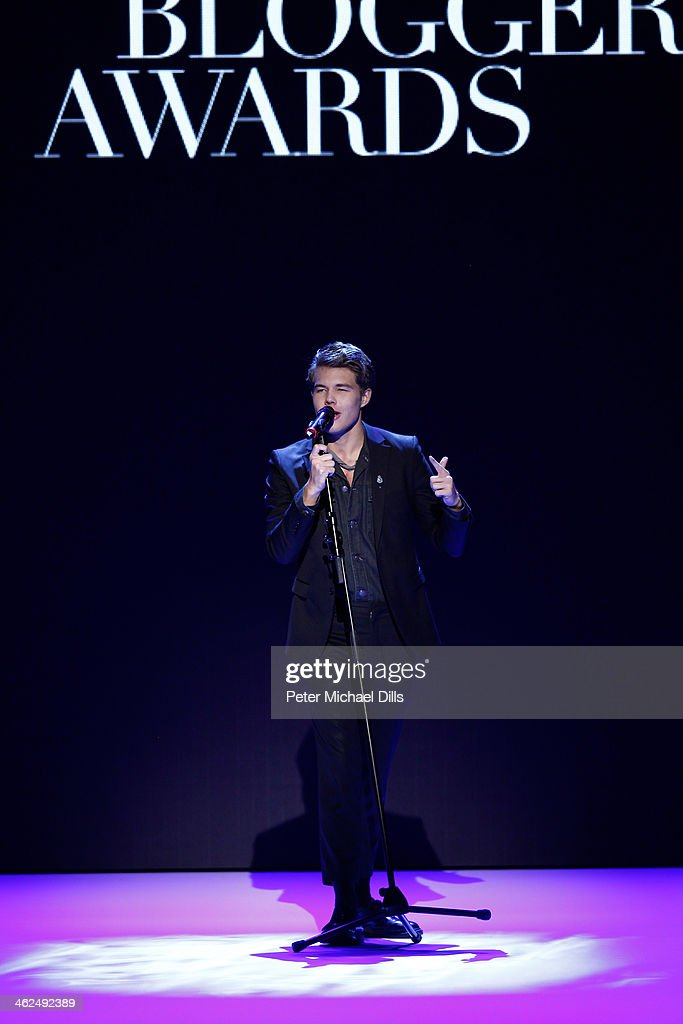 Andreas Wijk performs at the Stylight Fashion Blogger Awards at Brandenburg Gate on January 13, 2014 in Berlin, Germany.