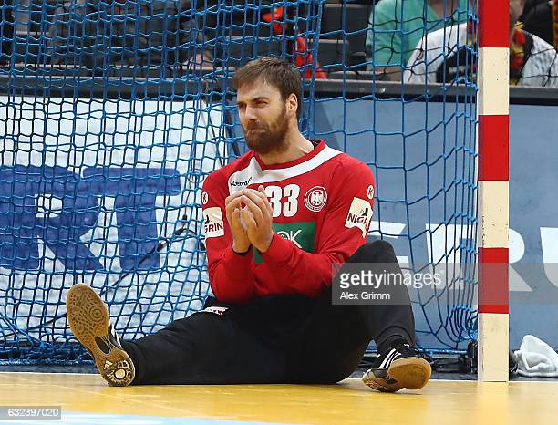 Andreas Wolff of Germany looks dejected during the 25th IHF Men's World Championship 2017 Round of 16 match between Germany and Qatar at Accorhotels...
