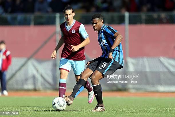 Andreau Rayan Gravillon of FC Internazionale in action during the Viareggio Juvenile Tournament match between FC Internazionale and APIA Leichhardt...