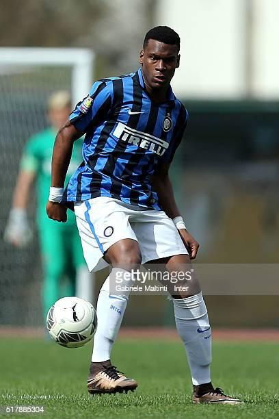 Andreau Rayan Gravillon of FC Internazionale in action during the Viareggio Juvenile Tournament match between FC Internazionale and US Citta di...