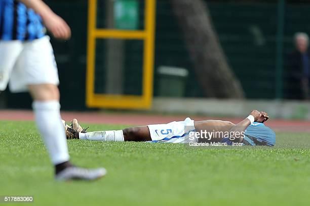 Andreau Rayan Gravillon of FC Internazionale shows his dejection during the Viareggio Juvenile Tournament match between FC Internazionale and US...