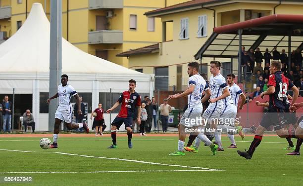 Andreaw Gravillon of FC Internazionale scores a goal during the Viareggio juvenile tournament match between FC Internazionale and Cagliari Calcio at...