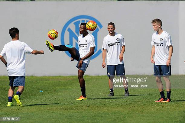 Andreaw Rayan Gravillon in action during the FC Internazionale Juvenile training session at Appiano Gentile on July 19 2016 in Como