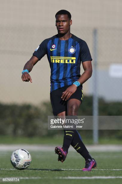 Andreaw Rayan Gravillon of FC Internazionale in action during the Viareggio juvenile tournament match between FC Internazionale and Pas Giannina at...