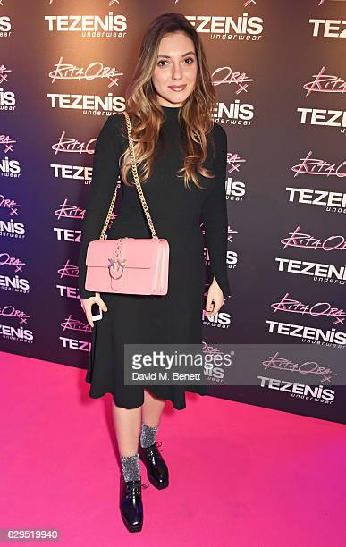 Andreea Cristea attends an intimate gig by Rita Ora at the newly relaunched Tezenis store at Oxford Circus crossing to celebrate Rita's recent...