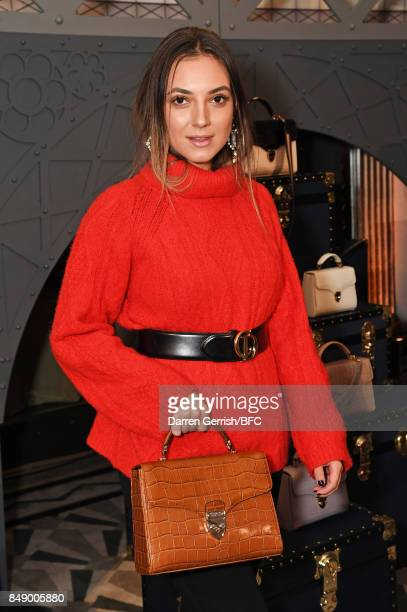 Andreea Cristea attends the Aspinal of London presentation during London Fashion Week September 2017 on September 18 2017 in London England