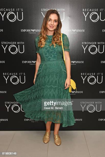 Andreea Cristea attends the Emporio Armani You Fragrance launch at Sea Containers on July 20 2017 in London England