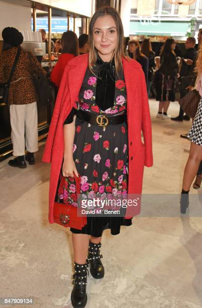Andreea Cristea attends the Henry Holland SS18 catwalk show during London Fashion Week September 2017 at TopShop Show Space on September 16 2017 in...