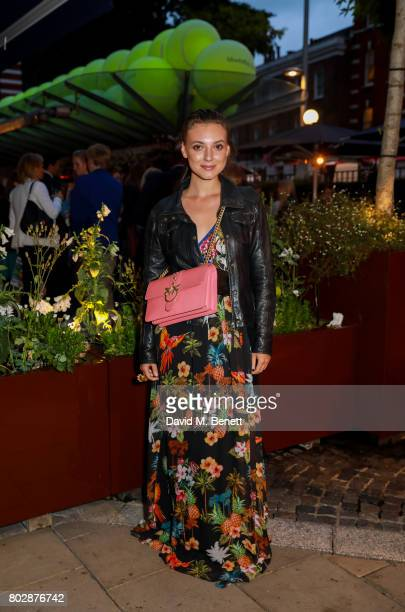 Andreea Cristea attends the Taylor Morris Eyewear x Aspall Tennis Classic Player's Party at Bluebird Chelsea on June 28 2017 in London England