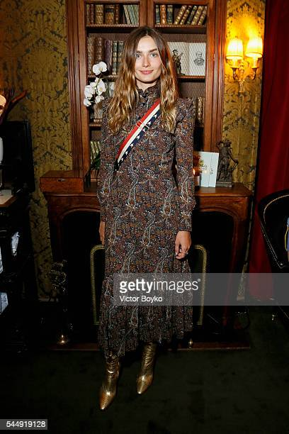 Andreea Diaconu attends Isabel Marant X mytheresa at Hotel Particulier Montmartre on July 4 2016 in Paris France