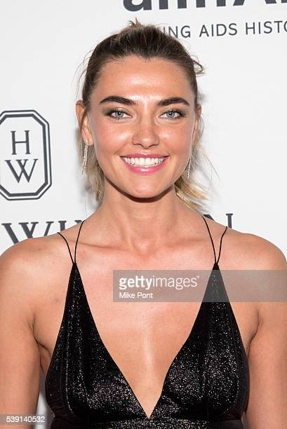 Andreea Diaconu attends the 7th Annual amfAR Inspiration Gala New York at Skylight at Moynihan Station on June 9 2016 in New York City