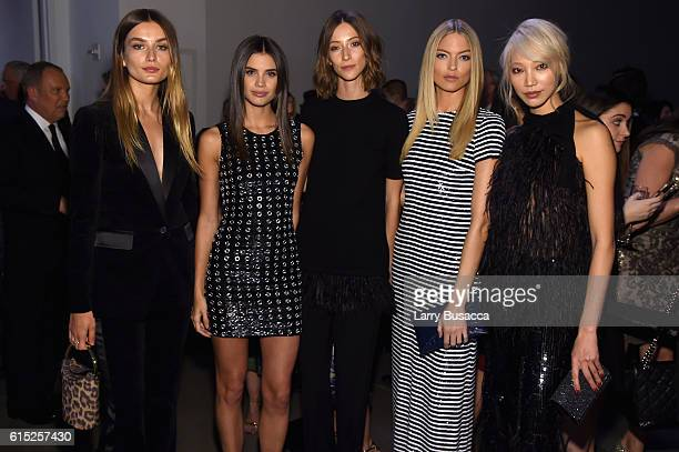 Andreea Diaconu Sara Sampaio Gia Coppola Martha Hunt and Soo Joo Park attend the God's Love We Deliver Golden Heart Awards on October 17 2016 in New...