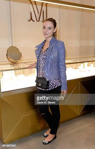 Andreea Paula Cristea attends the Monica Vinader and Brita Fernandez Schmidt launch of the #SheInspiresMe friendship bracelet on October 8 2015 in...