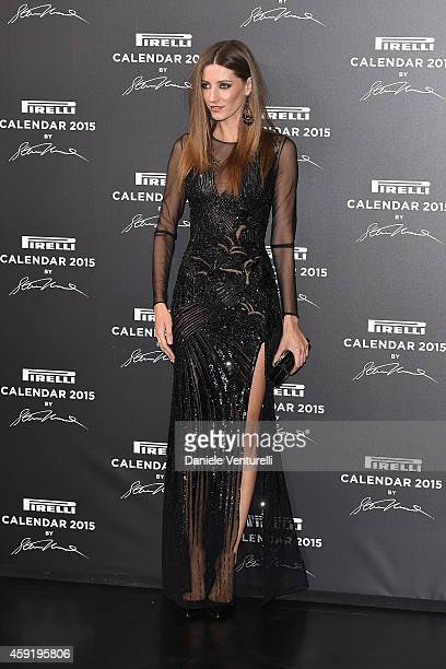 Andreea Stancu attends the 2015 Pirelli Calendar Red Carpet on November 18 2014 in Milan Italy