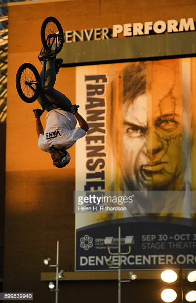 Andreev Konstantin of St Petersburg Russia catches some big air as he competes in the Firstever UCI World Cup for BMX Freestyle Park in the United...