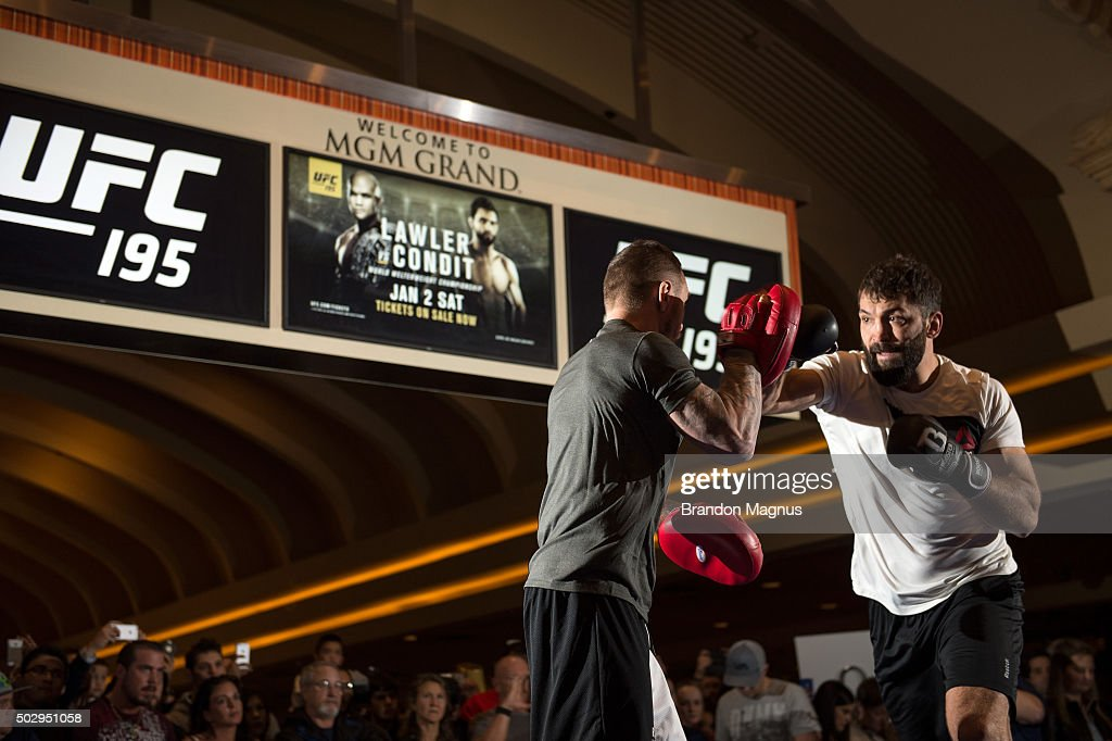 UFC 195 Open Workouts