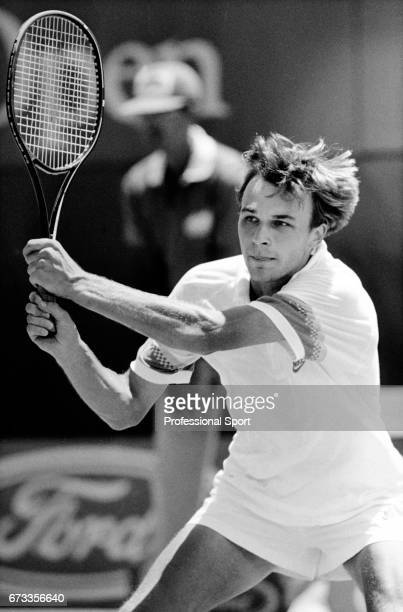Andrei Chesnokov of Russia in action during the Australion Open Tennis Championships held at Flinders Park in Melbourne Australia circa January 1988