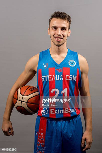 GARDA 'MIHAI VITEAZUL' BUCHAREST ROMANIA Andrei Iliescu of Steaua CSM EximBank Bucharest during the official photo session of Steaua CSM EximBank...