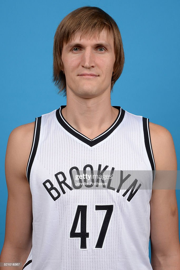 <a gi-track='captionPersonalityLinkClicked' href=/galleries/search?phrase=Andrei+Kirilenko&family=editorial&specificpeople=201909 ng-click='$event.stopPropagation()'>Andrei Kirilenko</a> #47 of the Brooklyn Nets poses for a portrait during media day on September 26, 2014 at the PNY Center in East Rutherford, New Jersey.