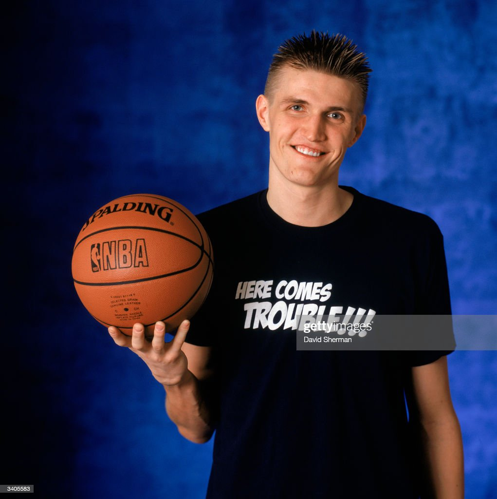 Andrei Kirilenko of the Utah Jazz poses for a portrait during the 2004 NBA All-Star Weekend on February 13, 2004 at Staples Center in Los Angeles, California.