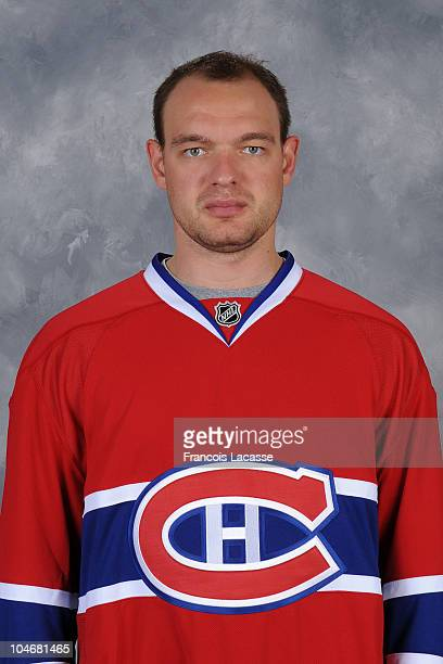 Andrei Markov of the Montreal Canadiens poses for his headshot for the 20102011 NHL season September 15 2010 in Montreal Canada