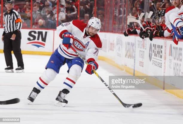 Andrei Markov of the Montreal Canadiens skates against the Ottawa Senators at Canadian Tire Centre on March 18 2017 in Ottawa Ontario Canada