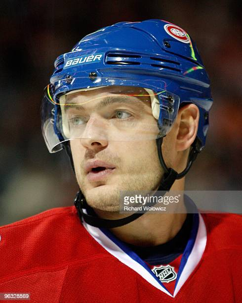 Andrei Markov of the Montreal Canadiens skates during the NHL game against the Ottawa Senators on January 16 2010 at the Bell Centre in Montreal...