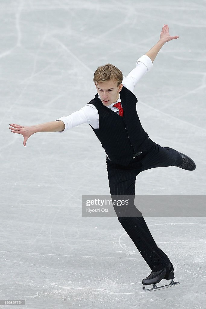Andrei Rogozine of Canada competes in the Men Free Skating during day two of the ISU Grand Prix of Figure Skating NHK Trophy at Sekisui Heim Super Arena on November 24, 2012 in Rifu, Japan.