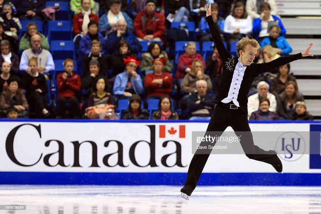 Andrei Rogozine of Canada skates during the men's short program at the ISU GP 2013 Skate Canada International at Harbour Station on October 25, 2013 in Saint John, New Brunswick, Canada.