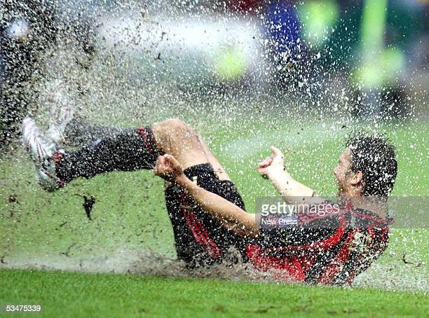 Andrei Shevchenko of Milan celebrates a goal during the Serie A match between Ascoli and AC Milan on August 28 2005 in Ascoli Italy