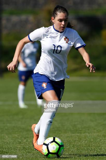 Andreia Faria of Portugal during the UEFA U17 Women's Championship Qualifier match between Spain and Portugal at Cidade do Futebol stadium on March...