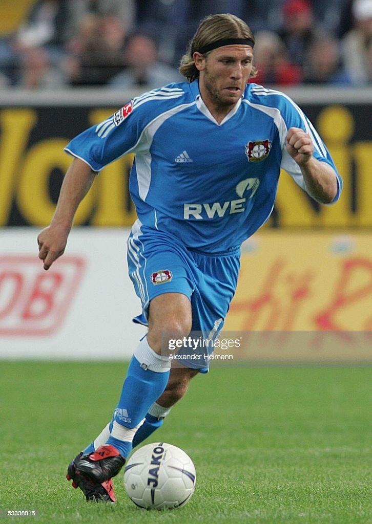 Andreij Voronin of Leverkusen during the Bundesliga match between Eintracht Frankfurt and Bayer Leverkusen at the Commerzbank Arena on August 7 2005...
