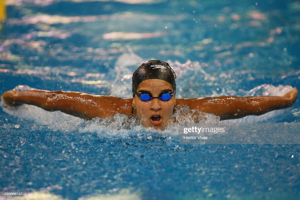 Andreina Pinto of Venezuela competes in 200 meters butterfly category as part of the XVII Bolivarian Games Trujillo 2013 at pools complex of Mansiche Stadium on November 19, 2013 in Trujillo, Peru.