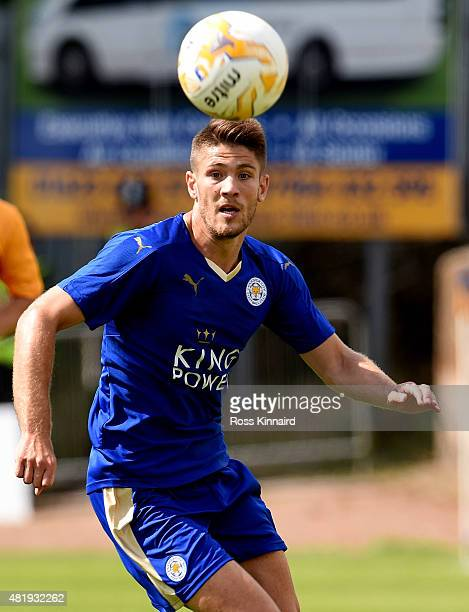 Andrej Kramaric of Leicester City in action during the pre season friendly match between Mansfield Town and Leicester City at the One Call Stadium on...