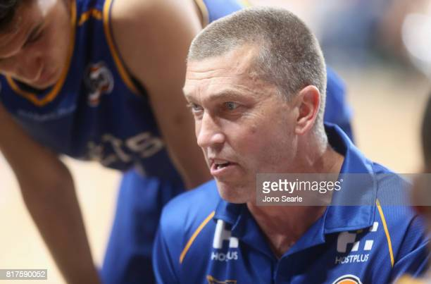 Andrej Lemanis during the match between the Brisbane Bullets and China at the Gold Coast Sports Leisure Centre on July 18 2017 in Gold Coast Australia