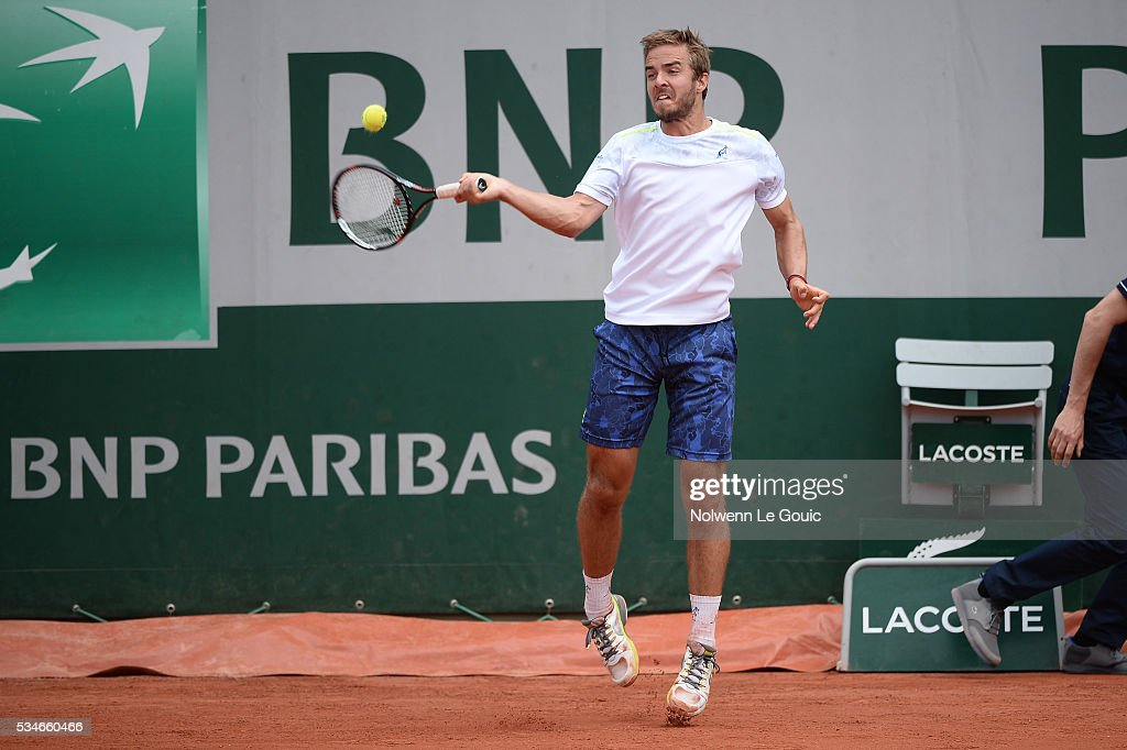 Andrej Martin during the Men's Singles third round on day six of the French Open 2016 at Roland Garros on May 27, 2016 in Paris, France.