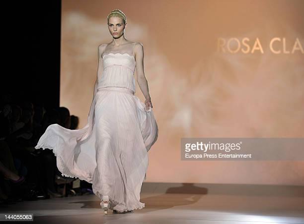 Andrej Pejic walks the runway 'Rosa Clara ' during 'Rosa Clara Barcelona Bridal Week 2012' on May 8 2012 in Barcelona Spain