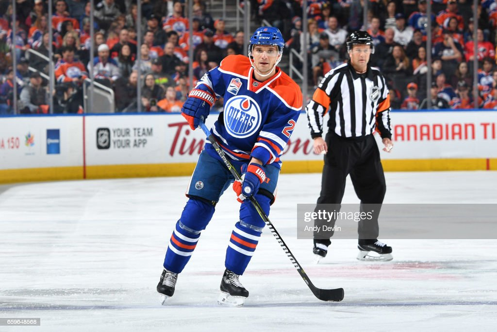 Andrej Sekera #2 of the Edmonton Oilers skates during the game against the Los Angeles Kings on March 28, 2017 at Rogers Place in Edmonton, Alberta, Canada.