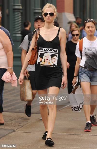 Andreja Peji is seen in Soho on July 18 2017 in New York City