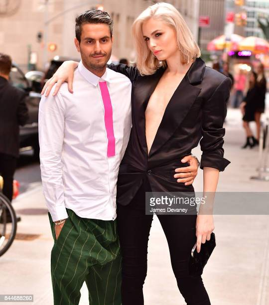 Andrej Pejic and guest arrive to the Daily Front Row's Fashion Media Awards at Four Seasons Hotel New York Downtown on September 8 2017 in New York...