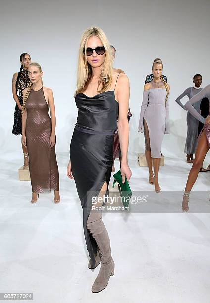 Andreja Pejic attends Laquan Smith Presentation September 2016 during New York Fashion Week on September 14 2016 in New York City