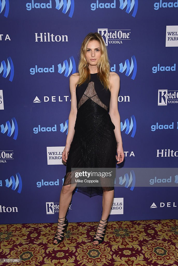 Andreja Pejic attends the 26th Annual GLAAD Media Awards In New York on May 9, 2015 in New York City.