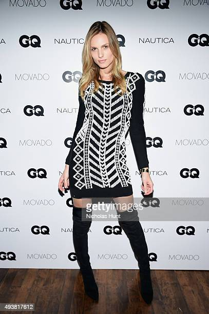 Andreja Pejic attends the GQ Gentlemen's Fund cocktail reception awards ceremony at The Gent on October 22 2015 in New York City