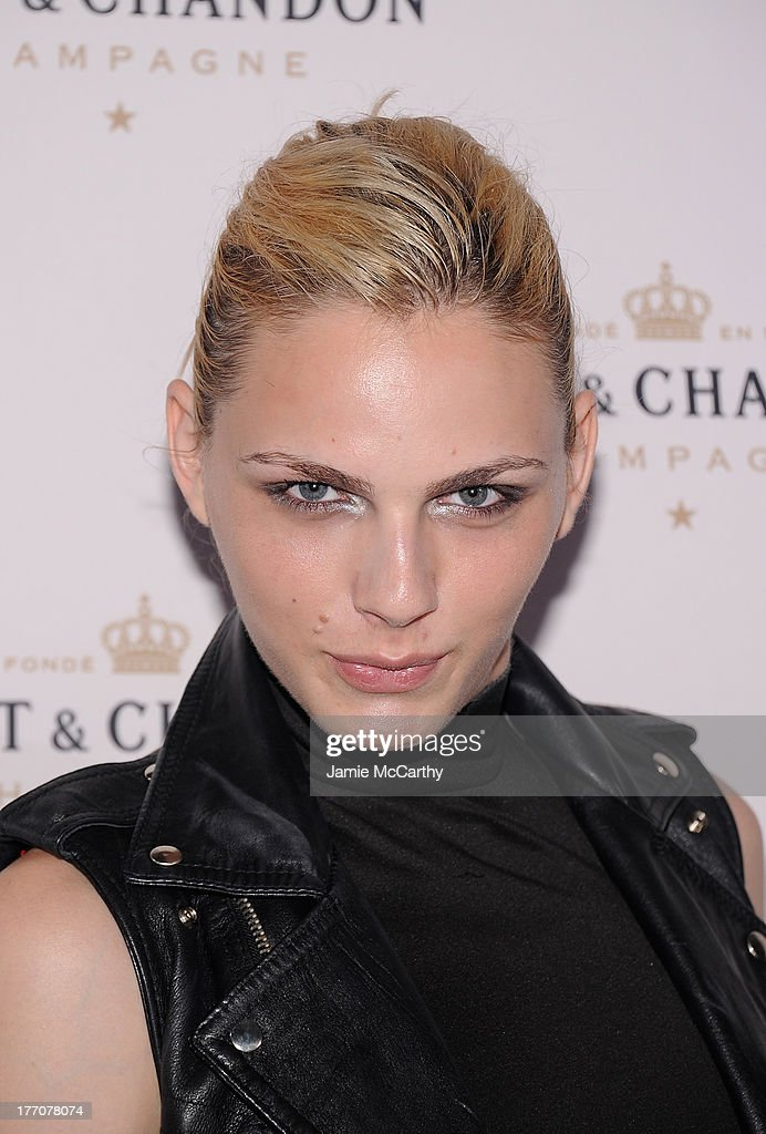 Andrej Pejic attends the Moet & Chandon 270th Anniversary at Pier 59 Studios on August 20, 2013 in New York City.