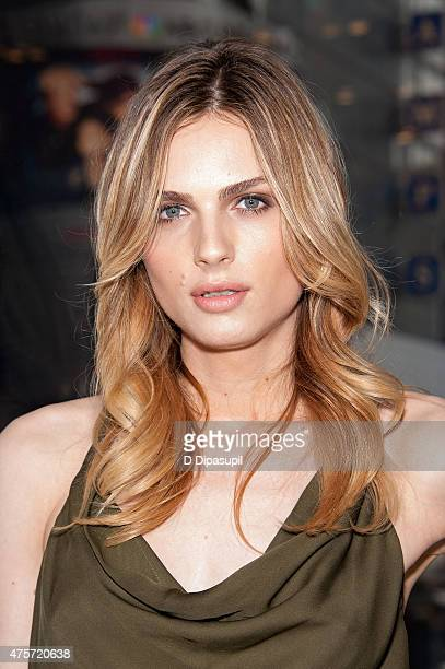 Andreja Pejic visits 'Extra' at their New York studios at HM in Times Square on June 3 2015 in New York City