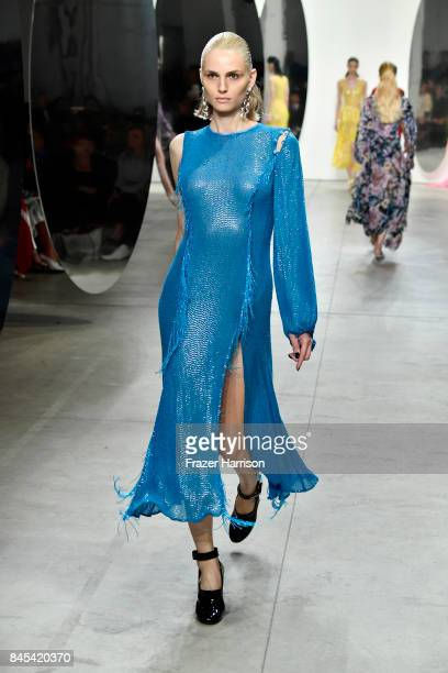 Andreja Pejic walks the runway for Prabal Gurung fashion show during New York Fashion Week The Shows at Gallery 2 Skylight Clarkson Sq on September...