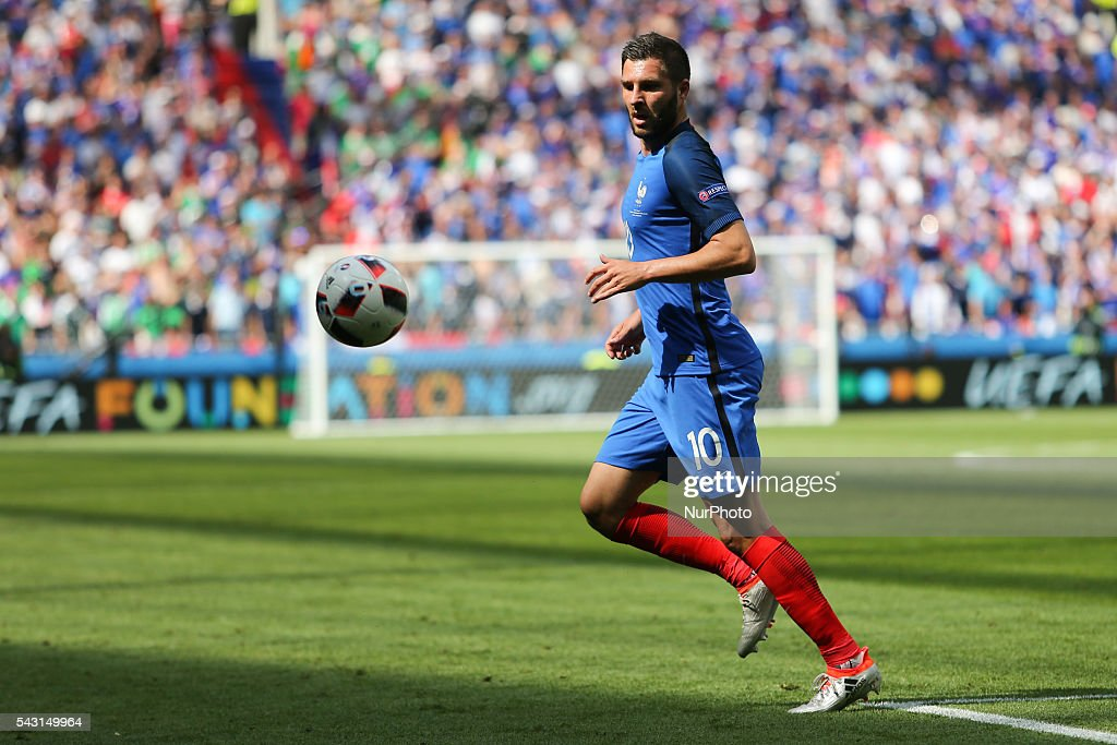 Andre-Pierre Gignac (FRA), during the UEFA EURO 2016 round of 16 match between France and Republic of Ireland at Stade des Lumieres on June 26, 2016 in Lyon, France.