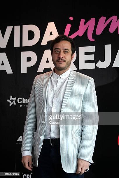 Andres Almeida poses during the presentation of the movie 'La Vida Inmoral de la Pareja Ideal' on October 17 Mexico City Mexico