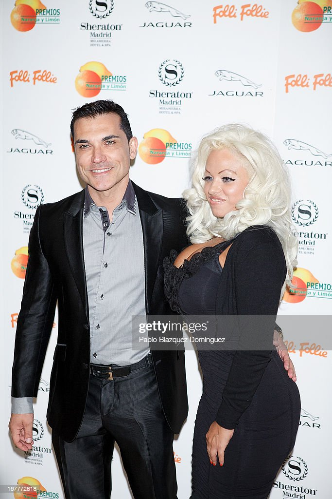Andres Burguera and Ana Lopez attend 'Orange And Lemon' Awards ceremony at Sheraton Mirasierra Hotel on April 29, 2013 in Madrid, Spain.