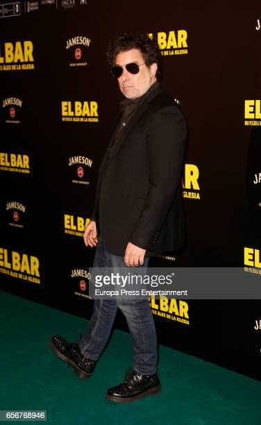 Andres Calamaro attends 'El Bar' premiere at Callao cinema on March 22 2017 in Madrid Spain